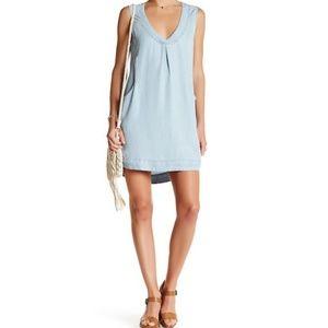 Chambray sleeveless dress